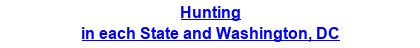 Hunting in each State and Washington, DC